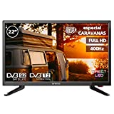 Television LED 22' INFINITON INTV-22M303 Full HD (Especial CARAVANAS (12V Incluido), USB, HDMI, Modo Hotel,...