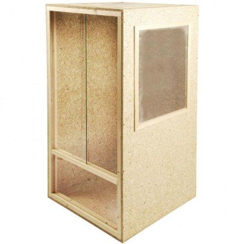 Terrario in legno, 60 x 120 x 60 cm, ventilato lateralmente e ventilato sul soffitto, per rettili come i camaleonti