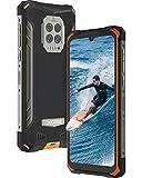 DOOGEE S86 PRO Smartphone Ohne Vertrag,Infrarot Stirnthermometer Outdoor Handy,128GB Handy Ohne Vertrag,8500 mAh Akku,6,1 Zoll,Dreifache Kamera,Outdoor Smartphone,Orange