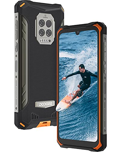 Movil Resistente, DOOGEE S86 Pro [2021] 8GB +128GB Movil, 8500mAh Batería con Termómetro Infrarrojo, IP68 IP69K Moviles Antigolpes, Triple Cámara 16 MP, Helio P60 4G Smartphone, 6.1inch, NFC, Naranja