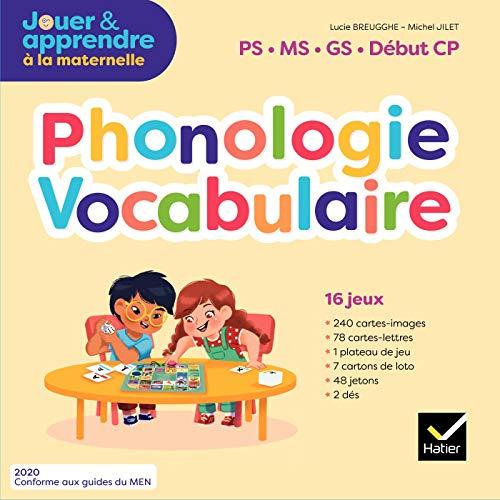 Jouer et apprendre - Lecture Maternelle PS, MS, GS Éd. 2020 - Jeux Phonologie Vocabulaire