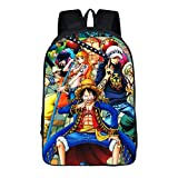 Cosstars One Piece Anime Image Backpack Sac d'école Sac à Dos Cartable pour...