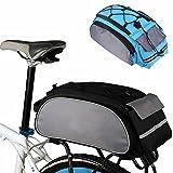 Sacoche de vélo multifonction pour porte-bagages arrière, grande capacité, pour vélo (gris)