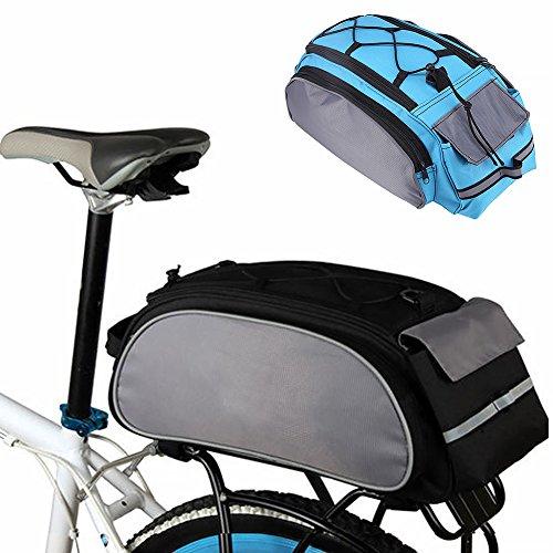 Sacoche Porte-bagages arrière sacoche de vélo, DE Grande capacité multifonction Vélo Vélo Sac Vélo Siège arrière Panier de transport de roue free size gris