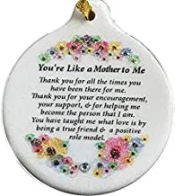 Laurie G Creations Like a Mother to Me Porcelain Ornament Gift Boxed Rhinestone Floral Detail