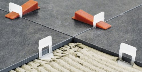 250 Laschen - Raimondi Levelling System RLS Fliesen-Nivelliersystem Verlegehilfe Verlegesystem Fliesenverlegung (3-12mm Fliesenstärke)
