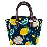 IUBBKI Fruit Lemon Handbag Lady Tote Bag Bolso bandolera 11x4.3x7.5in