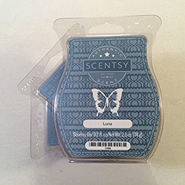 Scentsy, Luna, Wickless Candle Tart Warmer Wax 3.2 Oz Bar, 3-pack (3),white