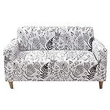 PLUS PO Cubresofa Funda para sillones Cubierta de sofá Estirar sofá Cubre Sofás Cubre Klippan Cubierta de sofá Fundas de sofá de Terciopelo triturado 90-140,White