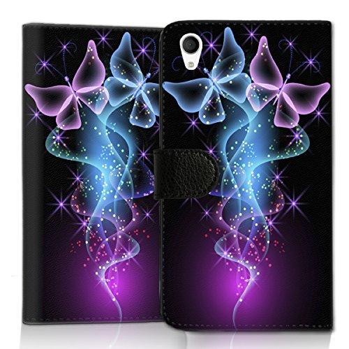 wicostar Wallet Book Style Flip Handy Tasche Case Schutz Hülle Schale Motiv Etui für ZTE Blade L3 - Flip UMH14 Design3