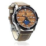'The Castaway' Hawaiian Koa Wood Watch (47mm, Chrome & Leather)