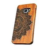 forepin reg; Coque Couvert en Bois avec Sculpté Moitié Luxe Wood Housse étui Cover pour Samsung Galaxy S6 Edge Plus