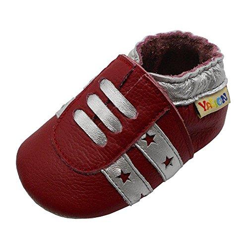 Yalion , Chaussures souple pour bébé (garçon) - Rouge - rouge, 18-24 Monate