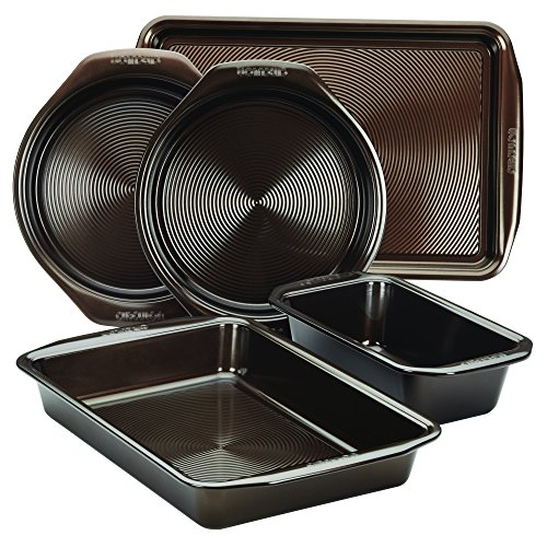 Circulon Nonstick Bakeware 5-Piece Bakeware Set, Chocolate Brown