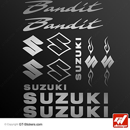 Aufkleber Suzuki Bandit–Silber–Brett 12Sticker, selbstklebend, Aufkleber, gt-design