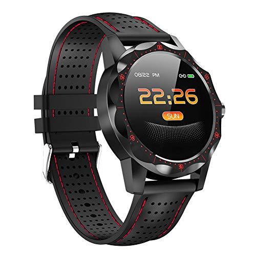 JANEFLY Waterdichte Fitness Smart Tracker, Rate Monitor met Hartmeter Waterdichte IP68 Smart Watch Stappenteller Activiteit Trackers Polsband Step Counter voor Kinderen Vrouwen Mannen, Rood