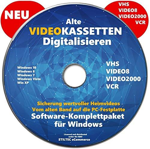 Retten Sie Ihre Videokassetten VHS to DVD Video-Kassetten selber digitalisieren Software Komplettpaket PREMIUM NEU