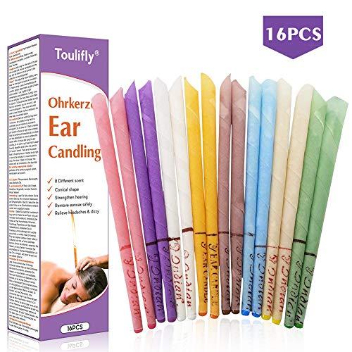 Velas Para Los Oídos,Vela de Cerumen,Removedor de Cerumen,Con filtro Incluido Instrucciones Para Mezclar la Vela Reducir el Tinnitus Cuidado,Con Discos De protección Para el Bloqueador de Oídos,16 PC