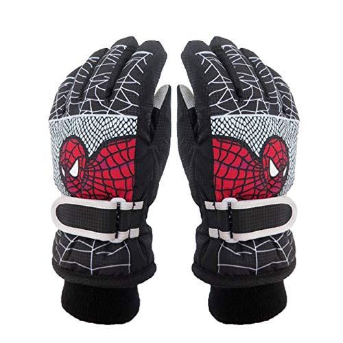 Oneriverspring40 Ski handschoenen Winter Warm Ski Handschoenen Kids Snowmobile Wanten Waterdichte Skiën Snowboard Handschoenen Kinderen Meisje Jongen Cartoon Spider Man Tiener