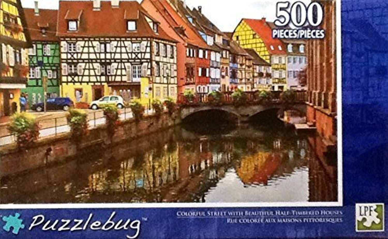 Puzzlebug 500 Piece Puzzle 18.25 X 11 - Coloreeful Street with Beautiful Half-Timberosso Houses by LPF
