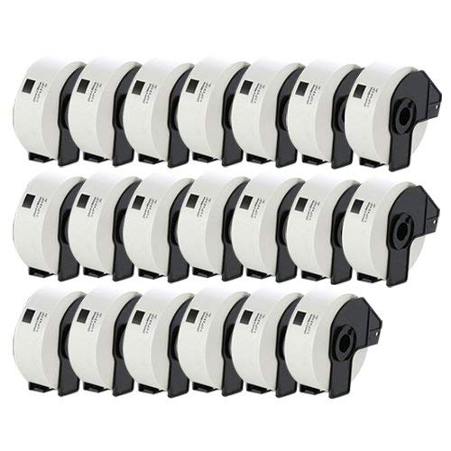 UCI 20x Etiketten kompatibel für Brother DK-11201 29mm x 90mm (400 Stück/Rolle) P-Touch QL-500, QL-500BS, QL-500BW, QL-550, QL-560, QL-560VP, QL-560YX, QL-570, QL-580, QL-580N, QL-650TD, QL-700, QL-710W, QL-720NW, QL-1050, QL-1050N, QL-1060N