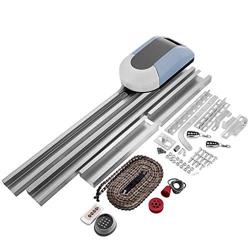 Buoqua Garagentorantrieb 1000N Garage Door Opener remote 120mm/s GaragentorÖffner auto mit 2 x drahtlose Fernbedienungen (1000N)