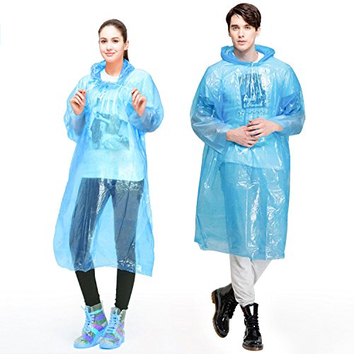 GINMIC Ponchos Family Pack - 12 Pack Rain Ponchos for Kids and Adults, Assorted Colors, Extra Thick 0.03mm, Disposable Emergency Rain Ponchos for Family Travel, Camping, Hiking, Fishing
