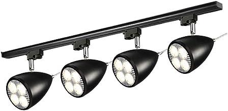 MX Track Light - Nordic Aisle Lights - Two Colors (Black/White) Track Lamp (Size : Black - 7cm - 4 Heads in Diameter)