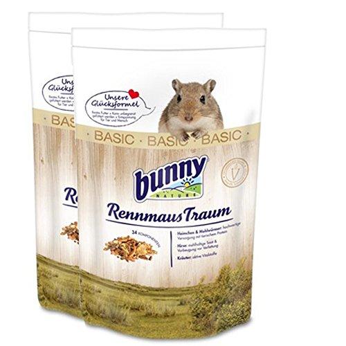 2 x 4 kg = 8 kg Bunny Rennmaus Traum Basic RennmausTraum Futter für Rennmäuse
