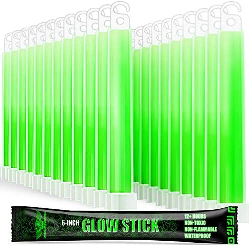 EVERLIT Survival Emergency Glow Sticks 6 Inches Light Sticks for First Aid Kit Survival Kit product image