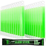 EVERLIT Survival Emergency Glow Sticks- 6 Inches Light Sticks for First Aid Kit, Survival Kit, Camping, Hiking, Outdoor, Disasters, Emergencies Up to 12 Hours Duration… (24 Pack, Green)