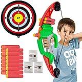 NextX Arco y Flecha para niños con Objetivos al Aire Libre Juego de Tiro Set de Tiro con Arco