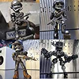 4PCS Scrap Metal Robot Warrior Sculpture Resin Handmade Decorations, Creative and Cool and Interesting Robot Decorations