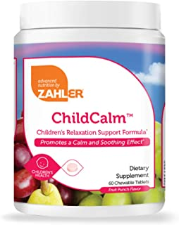 Zahler ChildCalm, Chewable Magnesium Calming and Relaxation Aid for Kids, Children's Calm Magnesium Supplement, Certified ...