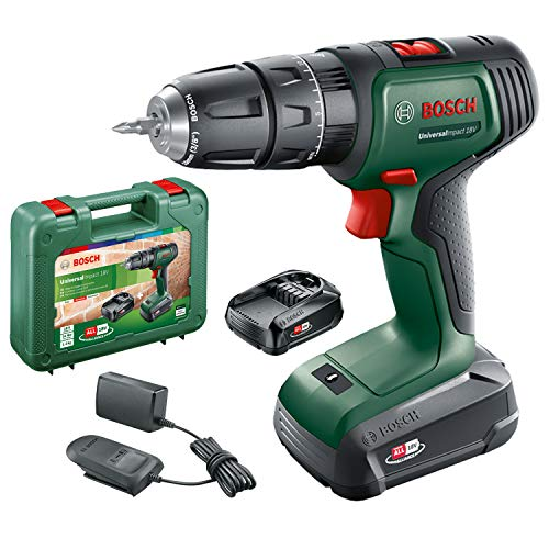 Bosch Cordless Hammer Drill UniversalImpact 18 V (2 batteries, 18 Volt System, in carrying case)