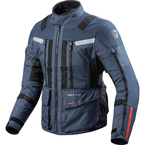 REV'IT! Motorradjacke mit Protektoren Motorrad Jacke Sand 3 Textiljacke dunkelblau S, Herren, Enduro/Reiseenduro, Ganzjährig
