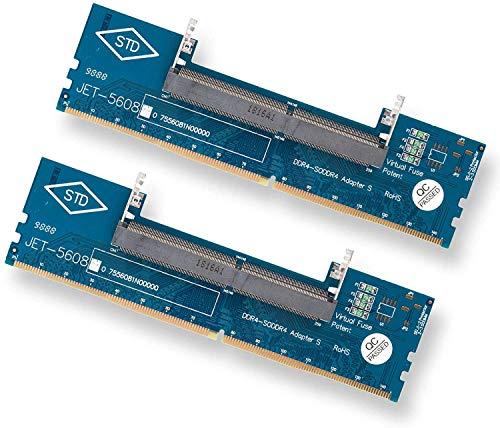 Gabriel 2er-Pack DDR4 Laptop SO-DIMM auf Desktop DIMM Memory RAM Connector Adapter Memory Tester, Überstromschutz