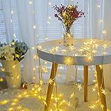 BAGZY Guirnalda Luces 3M 20 LED Cadena de Luces Estrella Guirnaldas luminosas Impermeable Decorativas con Caja de Batería para Interior Exterior Navidad Patio Fiestas Boda Jardín