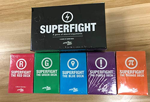 Cards Game Superfight + SUPERFIGHT Purple + Blue + red + Green + orange Extensions Board Game Desk Game Cards Game