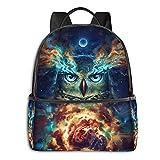 Owl Galaxy Art Mochila portátil y tableta de viaje de moda de 15 pulgadas para mujeres, hombres y niñas