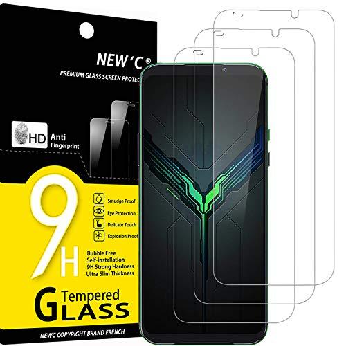NEW'C Lot de 3, Verre Trempé Compatible avec Xiaomi Black Shark 2, Film Protection écran sans Bulles d'air Ultra Résistant (0,33mm HD Ultra Transparent) Dureté 9H Glass