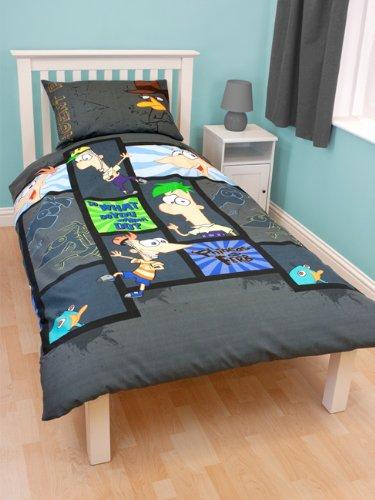 Parure de lit Phineas & Ferb 1 personne - 140x200 cm