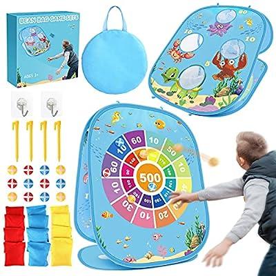 FLYNOVA Dart Board Game, Bean Bag Toss Game Set...