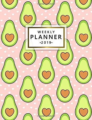 Weekly Planner 2019: Pink heart...