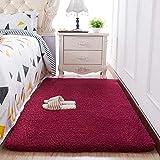 HUOQILIN Alfombra corta de felpa de color sólido, alfombra de dormitorio, alfombra suave, antideslizante, alfombra para gatear, alfombra de gatear, alfombrilla de noche F 200 x 100 cm XUAGMT