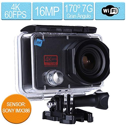 Nk 4K 60FPS sportcamera waterdicht, volwassenen, zwart, 65 x 22 x 41 mm
