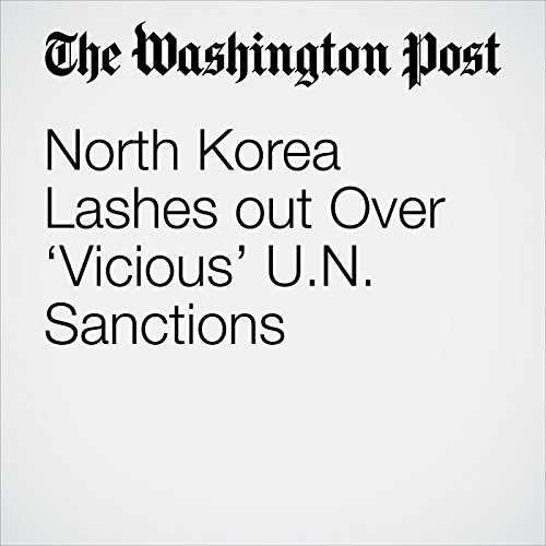 North Korea Lashes out Over 'Vicious' U.N. Sanctions copertina