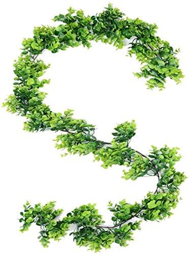 Pkfinrd kunstmatige wijnstokken 6.2 Ft nep eucalyptus laat slinger opknoping wijnstok groen buxus twijgen voor binnen outdoor bruiloft Backd