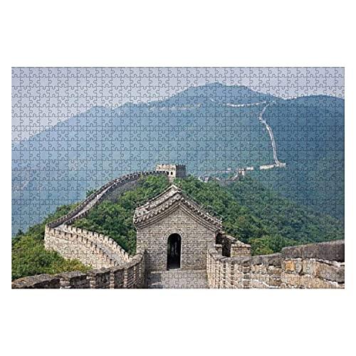 Torre de vigilancia de 1000 piezas en el sitio de Mutianyu en la Gran Muralla de China Rompecabezas de piezas grandes para adultos Juguete educativo para niños Juegos creativos Entretenimiento Rompeca