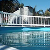 Aqua Select Above Ground Swimming Pool Resin Safety Pool Fence Base | Premium Quality UV Protected Vinyl | Keeps Pool Toys in and Intruders Out | Kit C - 2 Sections | Easy Installation | White